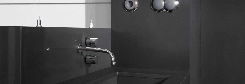 Bathroom Worktop and washbasin Negro Tebas