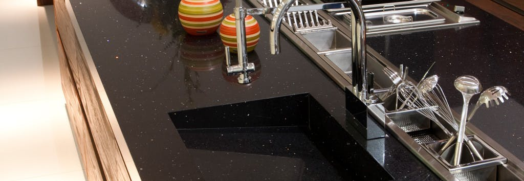 Kitchen Worktop and sink Negro Stellar