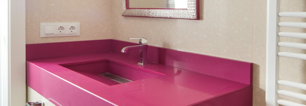 Bathroom Countertop Magenta Energy